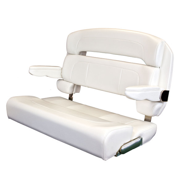 "TACO MARINE 40"" Deluxe Capri Helm Bench Chair, White ..."