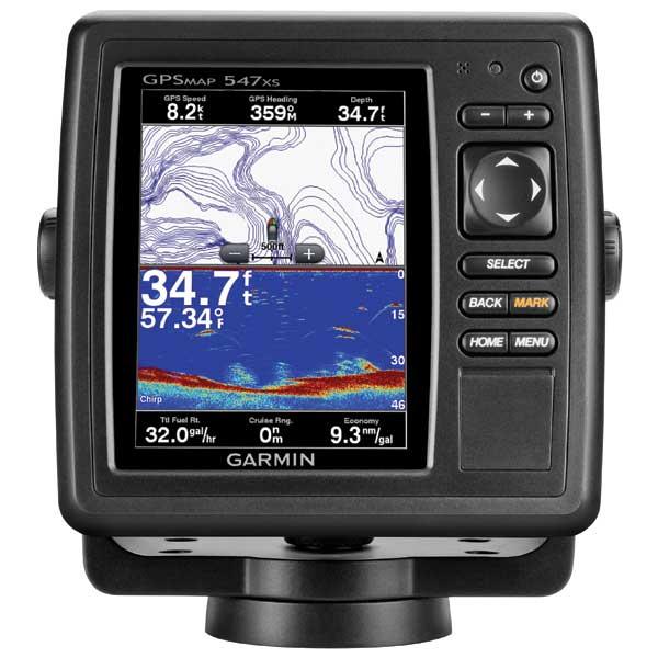 Garmin GPSMAP 547xs Fishfinder/GPS Combo, US Coastal & Inland Cartography, Transom Mount Transducer Included