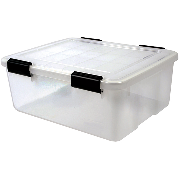 Iris Usa, Inc. 30.6 qt. Water Tight Storage Box, Clear
