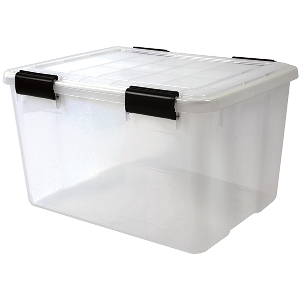 Iris Usa, Inc. 46.6 qt. Water Tight Storage Box, Clear