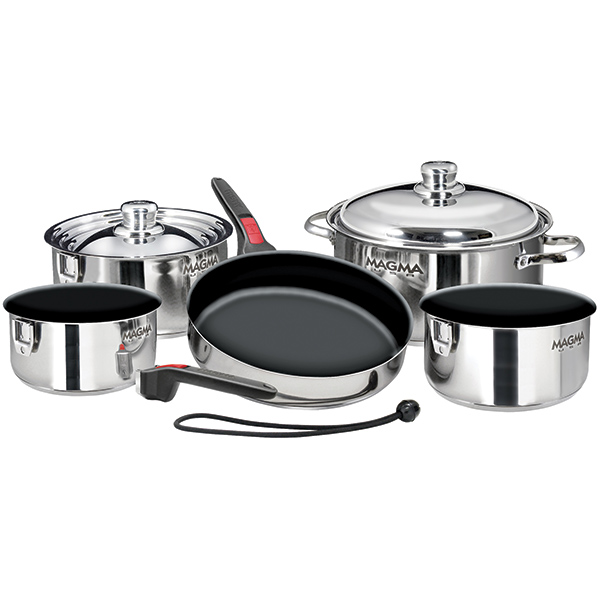 10-Piece Nesting Stainless Steel & Teflon Induction Cookware Set