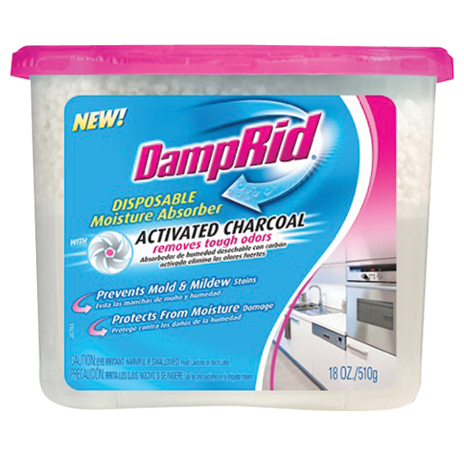 Damprid Disposable Moisture Absorber with Activated Charcoal, 18 oz.