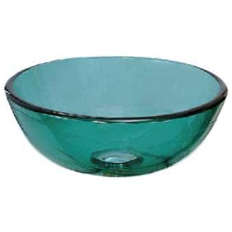 Ambassador Marine Half Sphere- Smooth Glass Vessel Sink, Clear