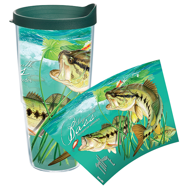 Tervis Guy Harvey Large Mouth Bass 24 oz. Wrap Tumbler, With Lid Sale $19.99 SKU: 14058457 ID# GH-24LBASWRA UPC# 93597539756 :