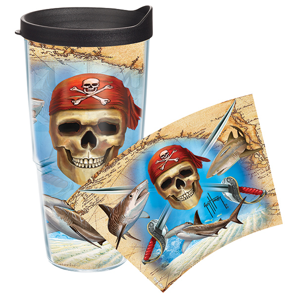 Tervis Guy Harvey Pirate 24 oz. Wrap Tumbler, With Lid Sale $19.99 SKU: 14058531 ID# GHPI-I-24-WRA UPC# 93597239847 :