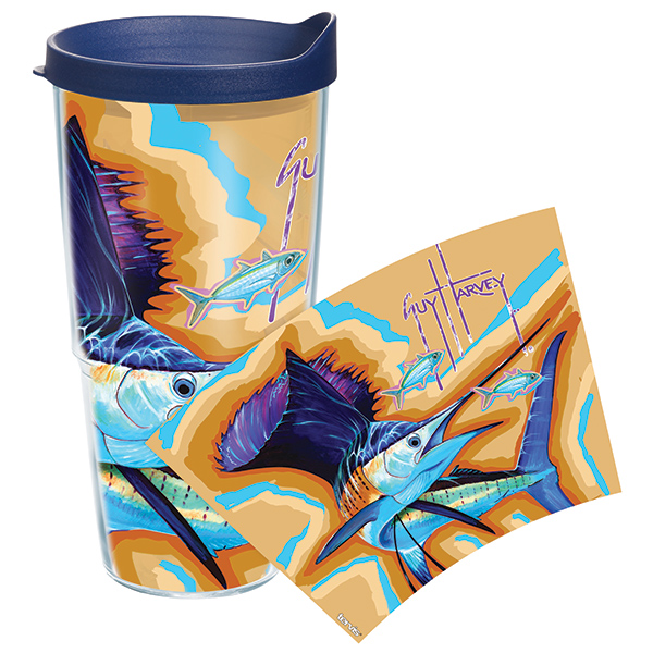 Tervis Guy Harvey Sailfish 24 oz. Wrap Tumbler, With Lid Sale $19.99 SKU: 14058556 ID# GH-24-SACOWRA UPC# 93597536656 :