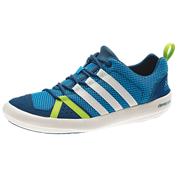 Adidas Men's Climacool Boat Lace Shoes, Blue/green/Solar Lime, 12