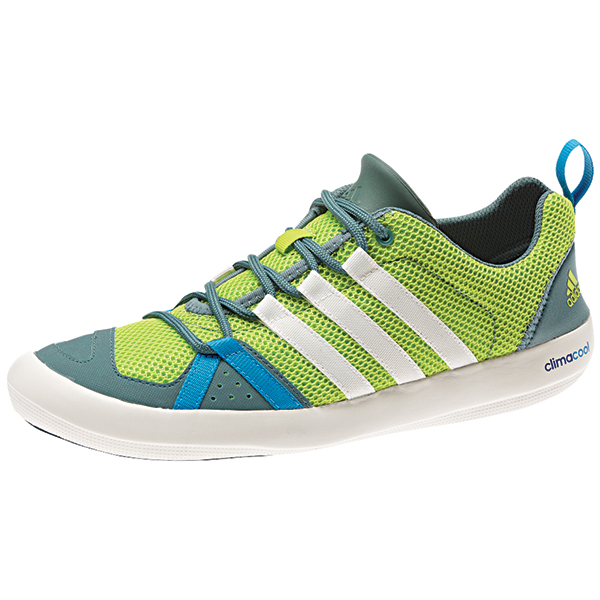 Adidas Men's Climacool Boat Lace Shoes, Solar Lime/Chalk, 13 Green/tan