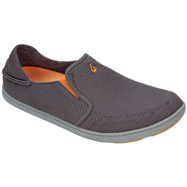 Olukai Men's Nohea Mesh Shoes, Dark Shadow, 10.5 Gray