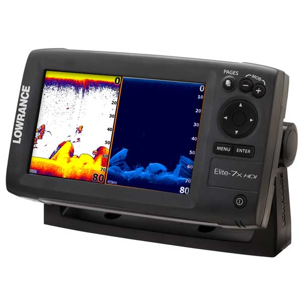 Lowrance Elite-7x HDI Fishfinder 50/200/455/800kHz, 2,500' max. depth, Broadband and DSI Sale $499.88 SKU: 14077846 ID# 000-10962-001 UPC# 9420024121658 :