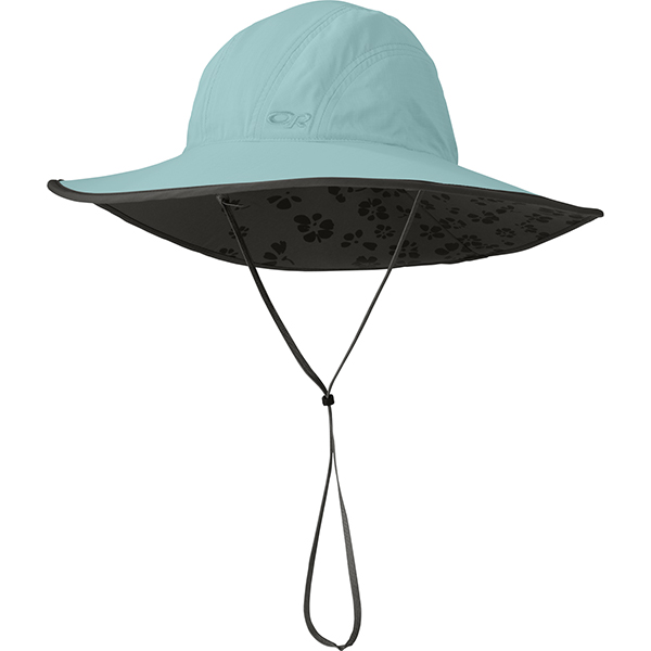 Outdoor Research Women's Oasis Sombrero, Pool/Grey, S Gray Sale $38.00 SKU: 14117485 ID# 80710761S UPC# 727602254722 :