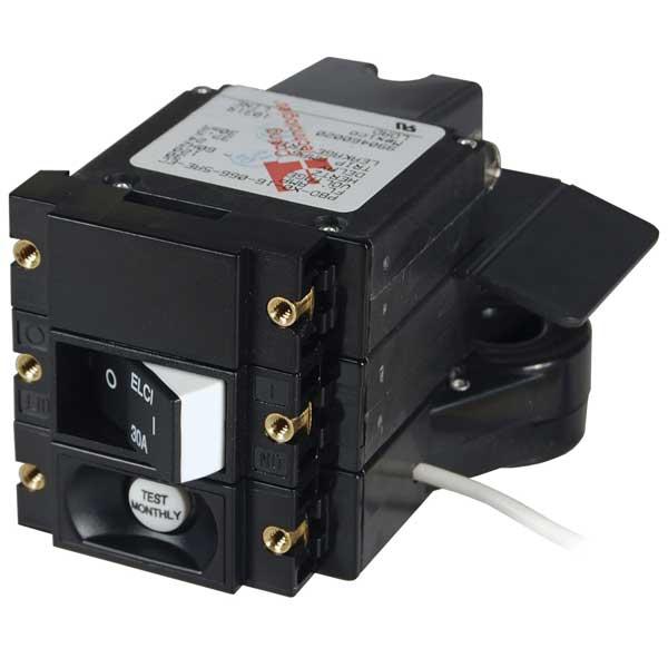 Blue Sea Systems A-Series ELCI Main Circuit Breaker - Double Pole 120V AC 30A