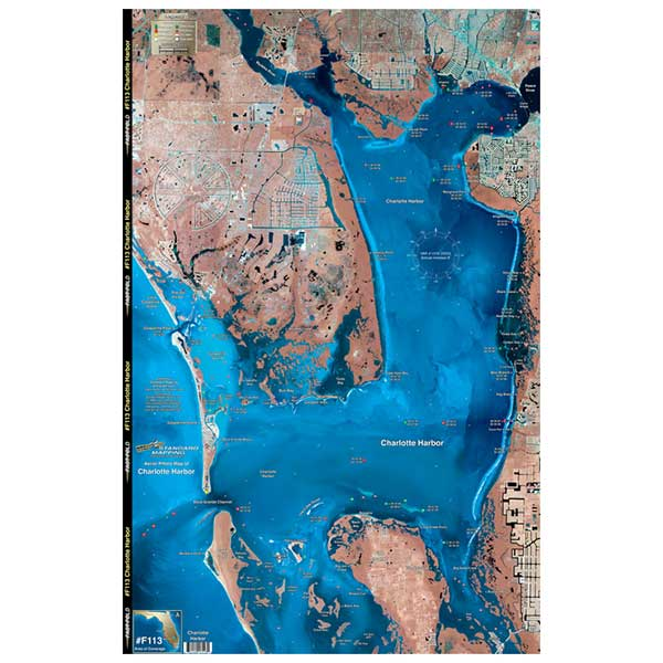 Standard Mapping Service Charlotte Harbor, Florida Laminated Map