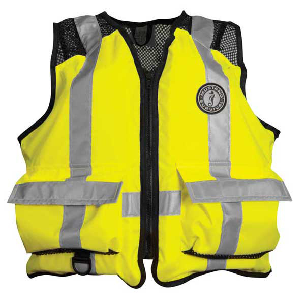 Mustang Survival ANSI-Approved Industrial Mesh Life Vest, Size L/XL