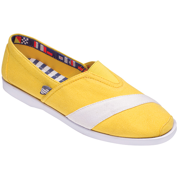 Women's Casual Canvas Boat Shoes, Primrose Yellow, 6