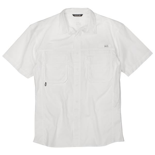 Blacktip Men's Big Catch Fishing Shirt White