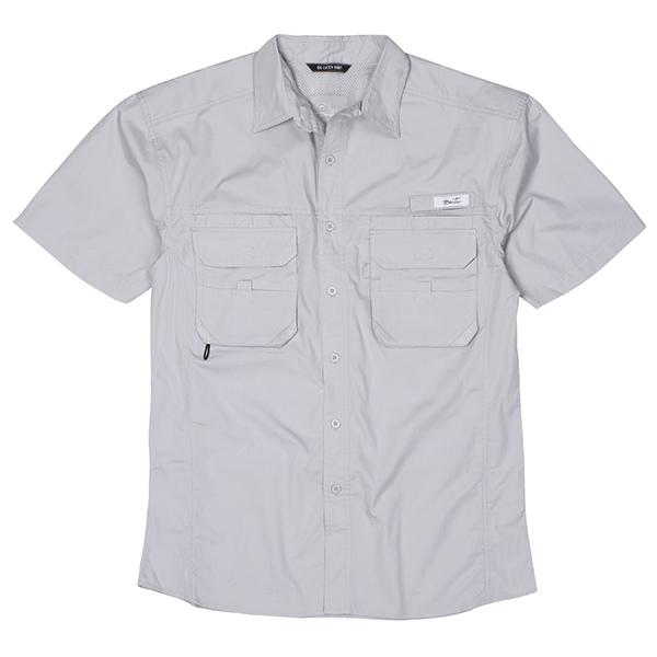Blacktip Men's Big Catch Fishing Shirt Gray