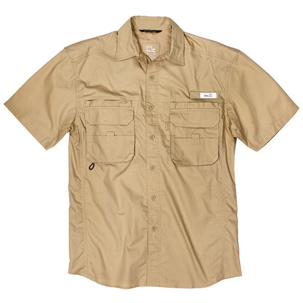 Blacktip Men's Big Catch Fishing Shirt Khaki