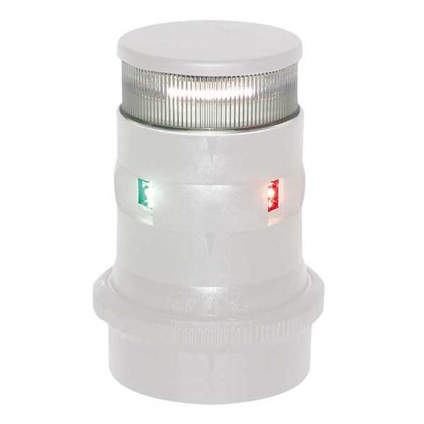 Aqua Signal Series 34 LED Navigation Light, Tri-Color/Anchor, White Housing