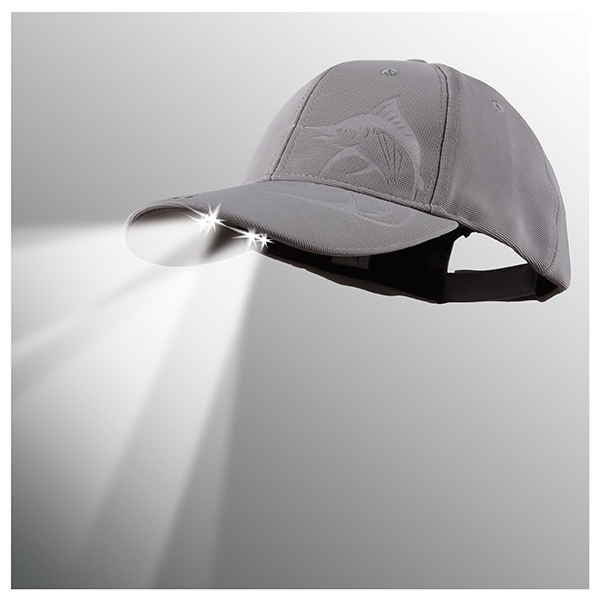 Panther Vision Powercap LED Lighted Hat, Grey Marlin Gray