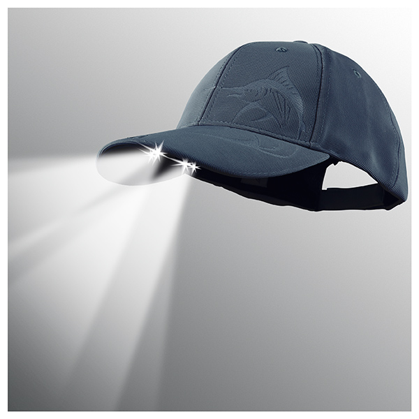 Panther Vision Powercap LED Lighted Hat, Navy Marlin Navy