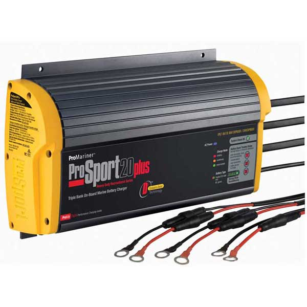 Professional Mariner ProSport 20 Plus Heavy-Duty Marine Battery Charger, 20A, 12/24/36V, 3 Bank Charger Sale $199.99 SKU: 14152177 ID# 43021 UPC# 31669430211 :