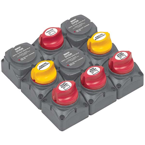 Bep Marine Battery Distribution Cluster for Triple Outboard Engine with Four Battery Banks