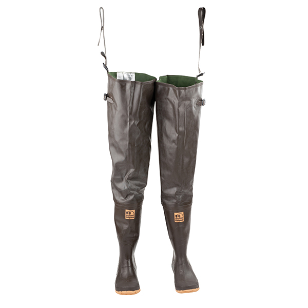 Men's Caster Cleated Hip Waders, Brown, 8