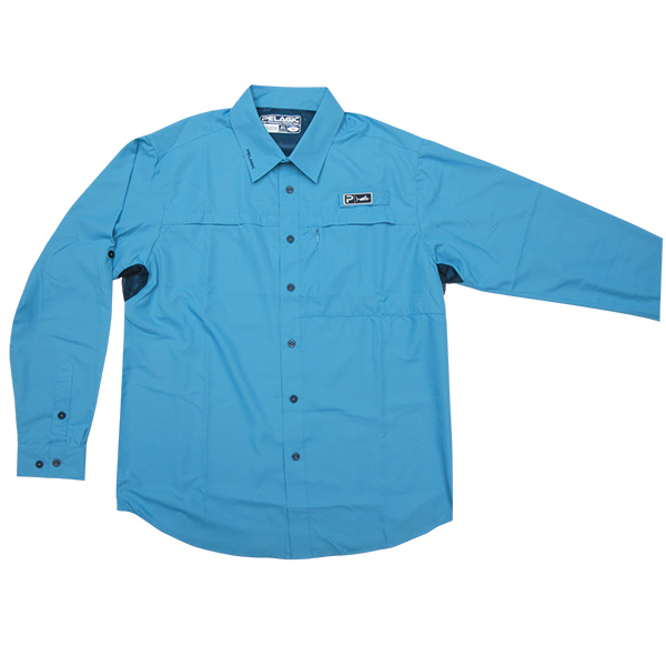 Pelagic Men's Eclipse Guide Long Sleeve Shirt Blue Sale $69.00 SKU: 14187751 ID# 795-A-2X UPC# 182206014170 :
