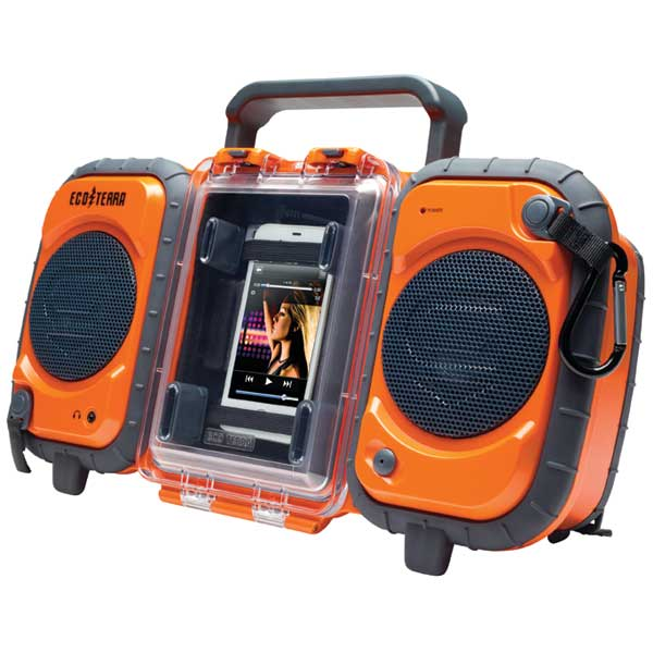 EcoTerra Waterproof Boombox—Orange