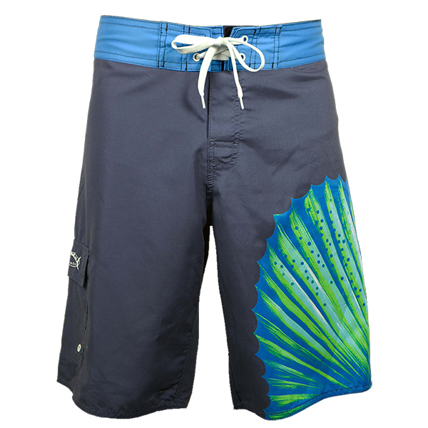 Bluefin Men's Sailfish Board Shorts, Navy, 30