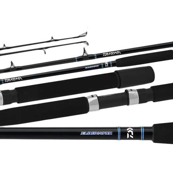 Daiwa Eliminator Conventional Boat Rod, Extra Heavy Power, 7 Guides, 30-50lb. Line Class, 5'6