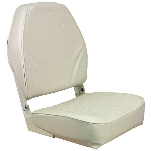 Folding High Back Seat, White