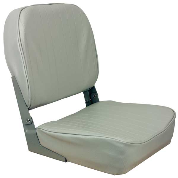 Low Back Folding Coach Seat, Gray