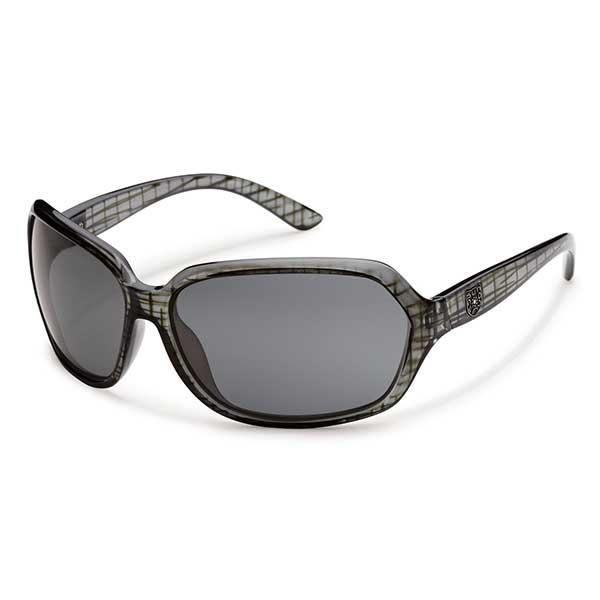 Suncloud Empress Polarized Sunglasses, Black Grid Frames with Gray Lenses Sale $49.99 SKU: 14239370 ID# S-EMPPGYBK UPC# 715757422783 :