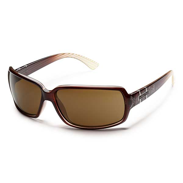 Suncloud Poptown Polarized Sunglasses, Brown Stripe Laser Frames with Brown Lenese Sale $49.99 SKU: 14239396 ID# S-PPPPBRBZ UPC# 715757422875 :