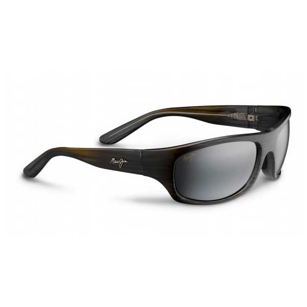 Surf Rider Sunglasses, Grey Black Stripe Frames with Neutral Grey Lenses