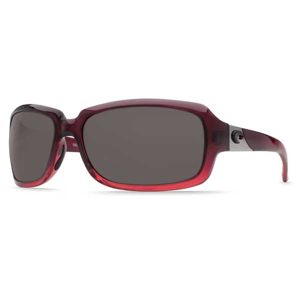 Costa Isabela Sunglasses, Pomegranate Fade Frames with 580 Gray Plastic Lenses