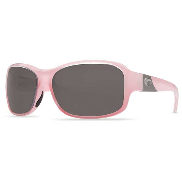 Costa Inlet Sunglasses, Coral Frames with Gray 580 Plastic Lenses