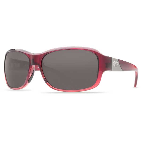 Costa Women's Inlet Sunglasses, Pink Fade Frames with Gray 580 Plastic Lenses