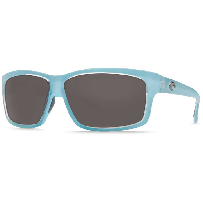 Cut Sunglasses, Ocean Frames with Costa 580 Gray Plastic Lenses Light Blue