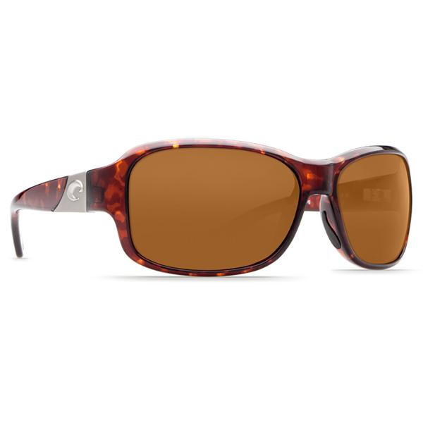 Costa Women's Inlet Sunglasses, Tortoise Frames with Amber 580P Lenses Tortoise/amber