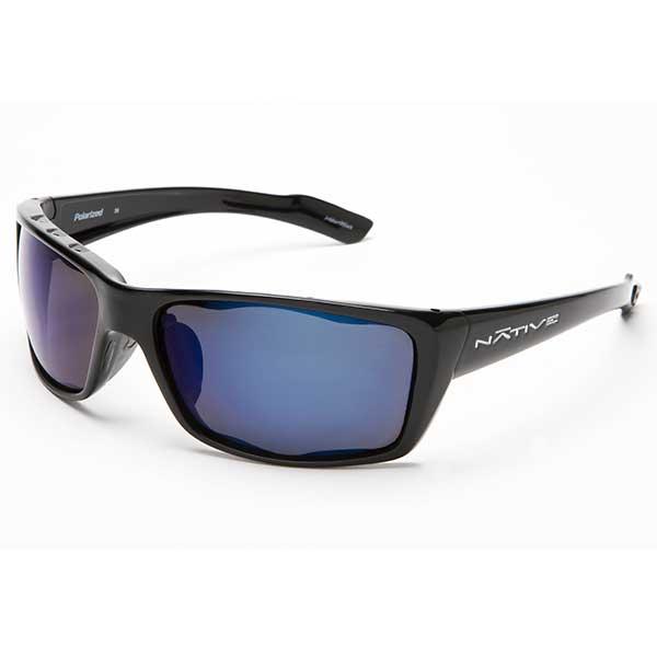 Native Eyewear Wazee Sunglasses, Iron Frames with Blue Polarized Reflex Lenses Black Sale $99.00 SKU: 14255392 ID# 135 300 519 UPC# 764824006913 :