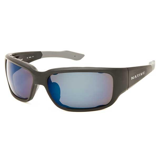 Native Eyewear Bolder Sunglasses, Asphalt Frames with Gray/blue Polarized Reflex Lenses Sale $129.00 SKU: 14255467 ID# 138 302 519 UPC# 764824008672 :