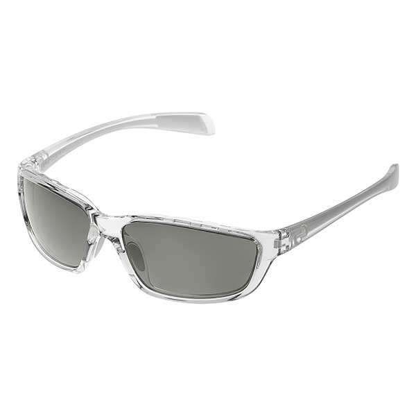 Native Eyewear Kodiak Sunglasses, Crystal Frames with Gray Polarized Reflex Lenses