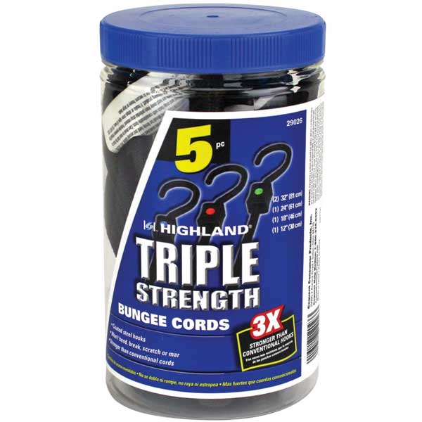 Highland Triple Strength Shock Cord Five Pack