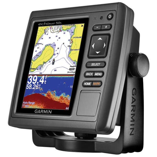 echoMAP™ 50s Fishfinder/GPS Combo, US Coastal/Inland maps, No Transducer