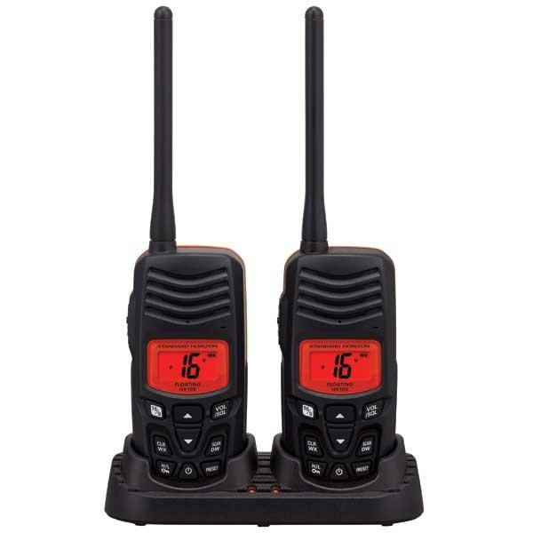 Standard Horizon HX100 2.5W Floating Handheld VHF Twin Pack Sale $119.99 SKU: 14272983 ID# HX100 UPC# 788026133918 :