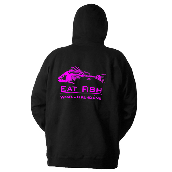 Men's Eat Fish Hoodie, Black, S