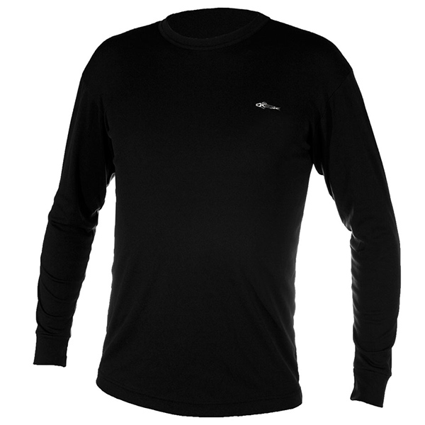 Men's Fiske Skins Crew Neck Top, Black, XS